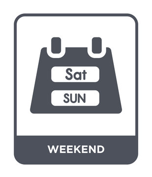 weekend icon vector