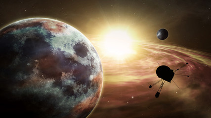 Space probe exoplanet exploration