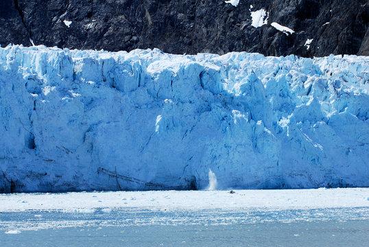 Close up of glaciers in glacier bay Alaska.