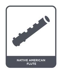 native american flute icon vector