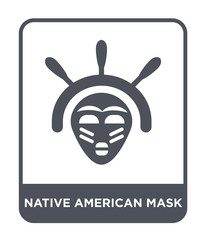 native american mask icon vector