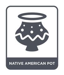 native american pot icon vector