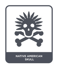 native american skull icon vector