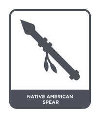 native american spear icon vector