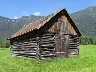 Barn in Alps - Scheune in den Alpen