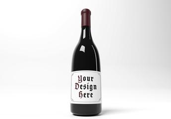 Wine Bottle Label Mockup