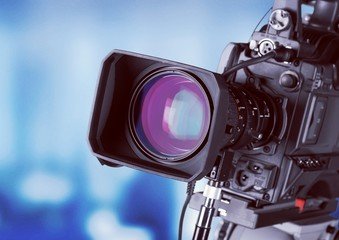 Close-up of a Television Camera lens