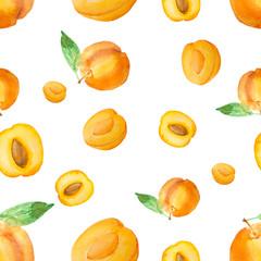 watercolor apricot pattern