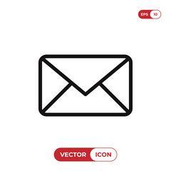 Email icon vector. Envelope,mail symbol. Message sign.