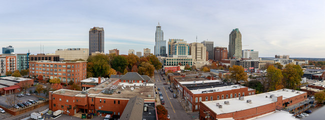 Panorama view of downtown Raleigh Skyline
