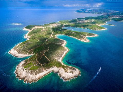 Aerial View of the Kamenjak in Croatia, Europe