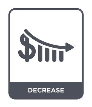 decrease icon vector