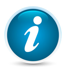 Info icon special prime blue round button