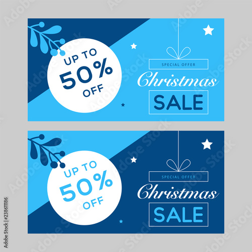 christmas facebook banner new year sale blue banner design christmas greeting card