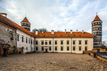 Panemune castle in Lithuania.The initial hill fort of the Teutonic Knights