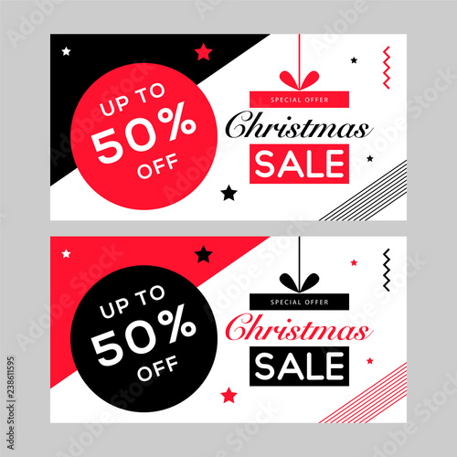 christmas facebook banner new year sale red banner design christmas greeting card