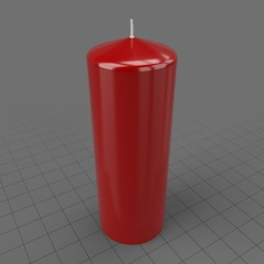 Tall red pillar candle