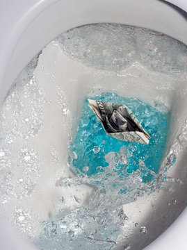 Toilet drip drop bubble splash water
