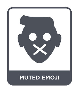 muted emoji icon vector