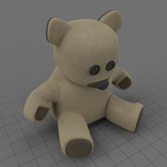 Burlap teddy bear