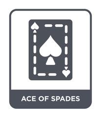 ace of spades icon vector