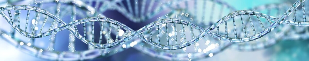 DNA, RNA helix, banner,