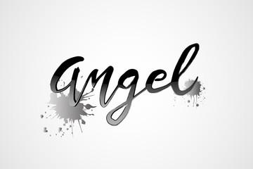 Angel word logo vector