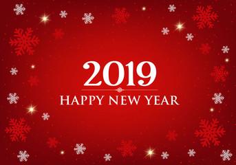 Happy New Year 2019 card.