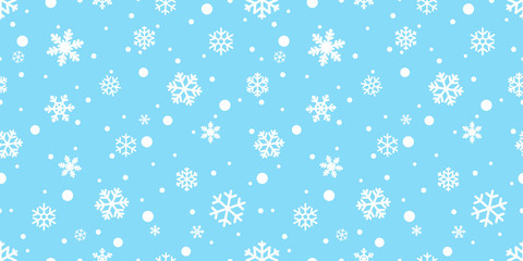 Snowflake seamless pattern vector Christmas snow Xmas Santa Claus scarf isolated repeat wallpaper tile background illustration gift wrapping paper