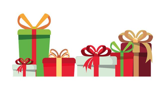 gift boxes wrap ribbon bow