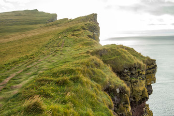 Dramatic and high cliffs of Latrabjarg, west fjords, Iceland