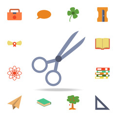 scissors colored icon. Detailed set of colored education icons. Premium graphic design. One of the collection icons for websites, web design, mobile app