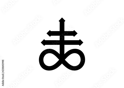 Leviathan Cross alchemical symbol for sulphur, associated with the