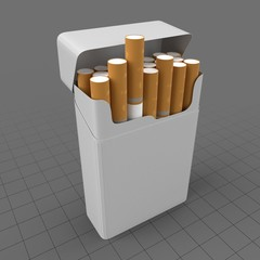 Open cigarette box