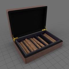 Open cigar box