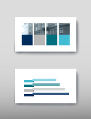 Poster infographics information business modern design set proposal advert