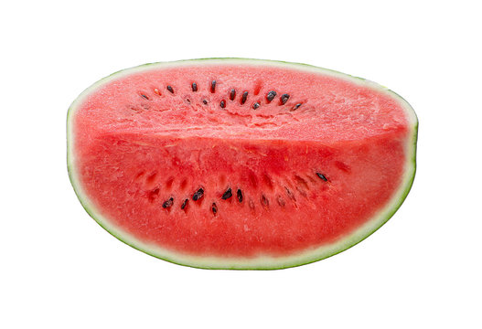 Watermelon top view isolated on white