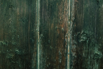 Aged boards of a gate