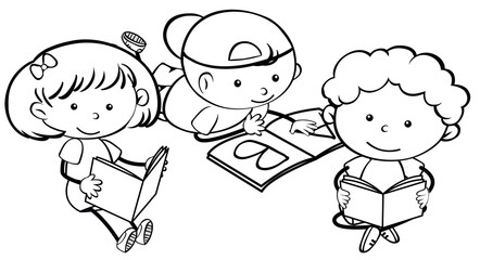 Doodle children learning character