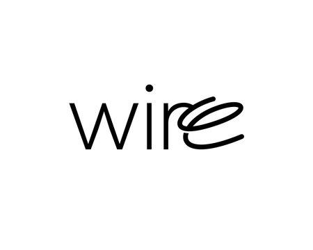 Wire Typography Wordmark Logotext