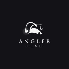 Clever Logo Vector of Angler fish