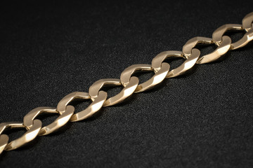 Mens Cuban link solid gold bracelet