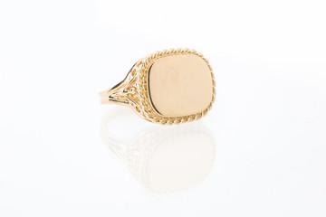 Mens Gold Bezel Ring