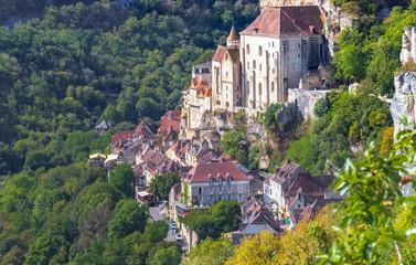 Rocamadour village du Lot, vallée de la Dordogne, France