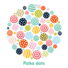 Polka dot. Vector illustration.