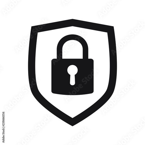 Shield Security With Lock Symbol Protection Safety Password