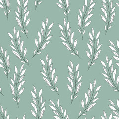 Vector floral seamless pattern. botanical backdrop