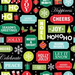 festive christmas greeting pattern