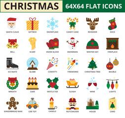 Christmas Flat icon set