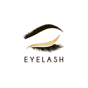 Vector logo design template for beauty salon. Lash and Brow icon.